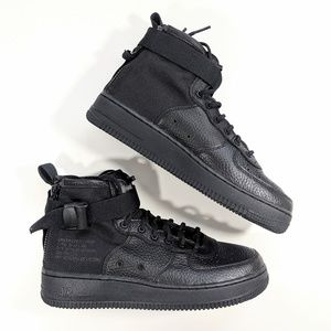NEW Nike SF Air Force 1 Mid Black Youth 7